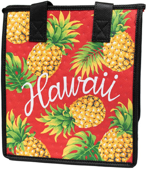 Beachwear Red  Petite Hawaiian Insulated Hot/Cold Reusable Bag