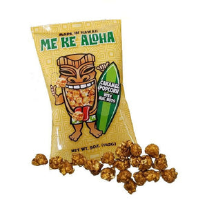 Me Ke Aloha Caramel Popcorn with Mac Nuts