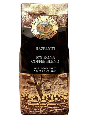 Royal Kona 10% Blend - Hazelnut (8oz)