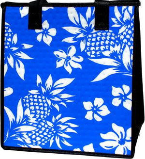 Golden Pineapple Peri  Medium Insulated Hot/Cold Reusable Bag