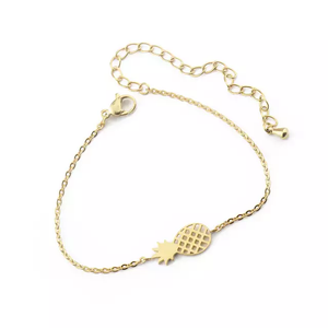 Human Design Pineapple Bracelet Gold