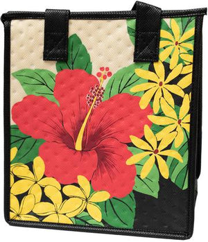 Hawaii Kai Pet Cream  Petite  Hawaiian Insulated Hot/Cold Reusable Bag