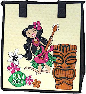Hula Rack Cream  Insulated Hot/Cold Reusable Bag~Medium