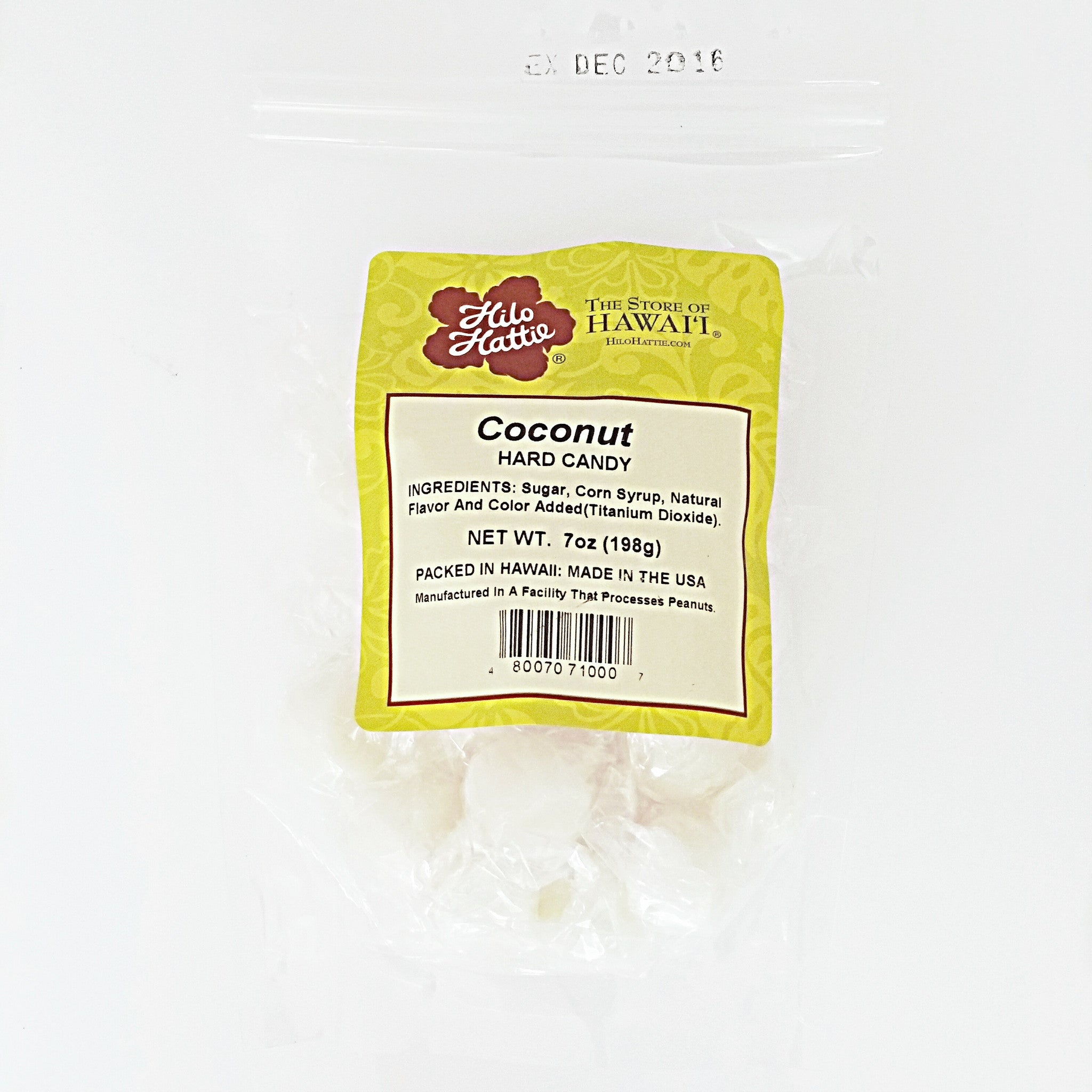 Hilo Hattie Coconut Hard Candy 7oz