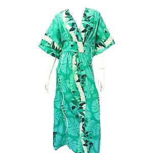 Maile Monstera Panel Caftan