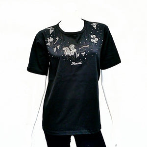 Womens Hibiscus Bling Lei Shirt - CS2-7