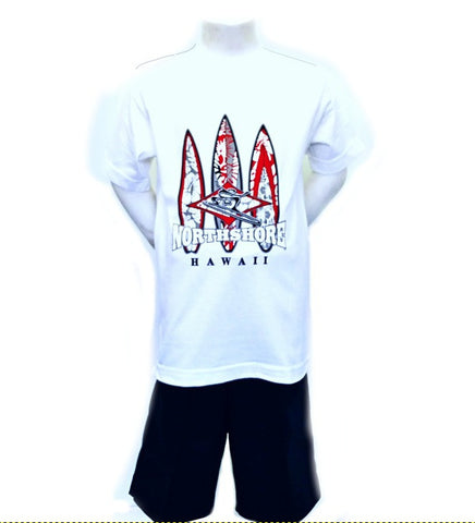 Hawaii North Shore Surfboard Boy's T-shirt - HC39-8