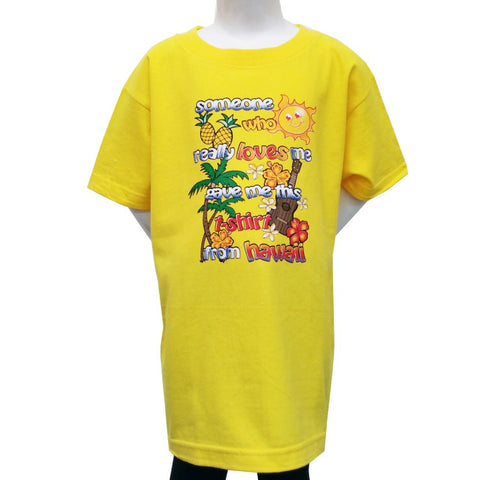 """Someone Who Loves Me"" T-Shirt - Yellow 2410"