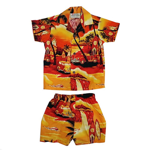 Waikiki Woody Boys Cabana Set ~ Yellow