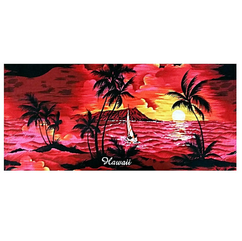 Palm Tree Beach Towel - Red