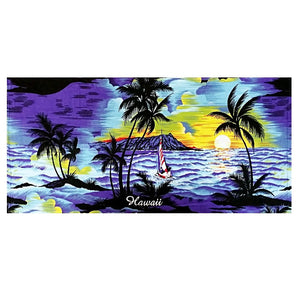 Palm Tree Beach Towel - Blue