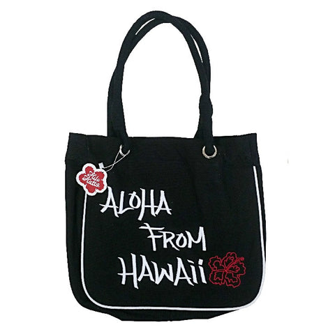 Aloha From Hawaii Tote Bag - Black