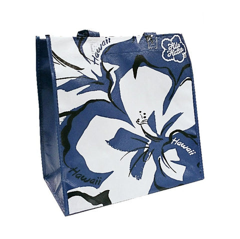 Hilo Hattie Hibiscus Eco Tote Bag Blue