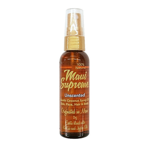 Maui Supreme Natural Exotic Coconut Skin, Face, Hair & Body Oil - Unscented