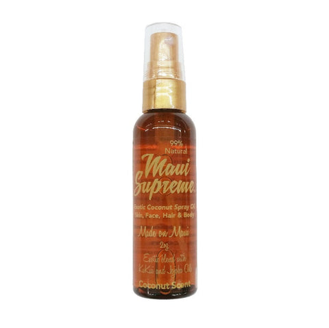 Maui Supreme Natural Exotic Coconut Skin, Face, Hair & Body Oil - Coconut Scent