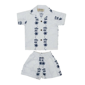 Honu Panel Boys Cabana Set - Blue
