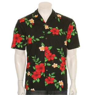 Men's Red Hibiscus Aloha Shirt