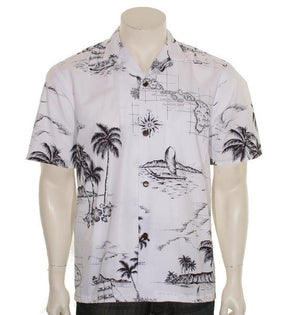 Map of Hawaii Aloha Shirt
