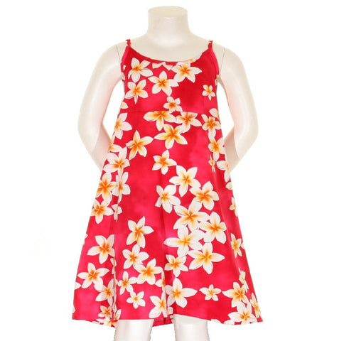 Plumeria Girls Spaghetti Strap Dress ~ Pink
