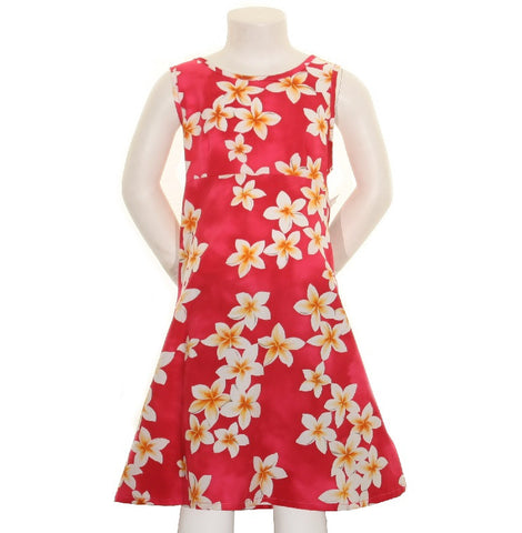 Plumeria Girls Key Hole Dress ~ Pink