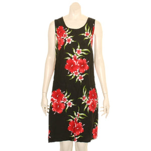 Island Tye Dye Tank Dress(110440) ~ Black/Red