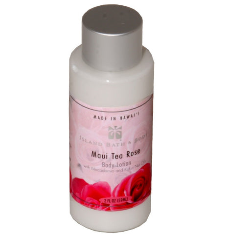 Island Bath & Body Maui Tea Rose Body Lotion 2oz.