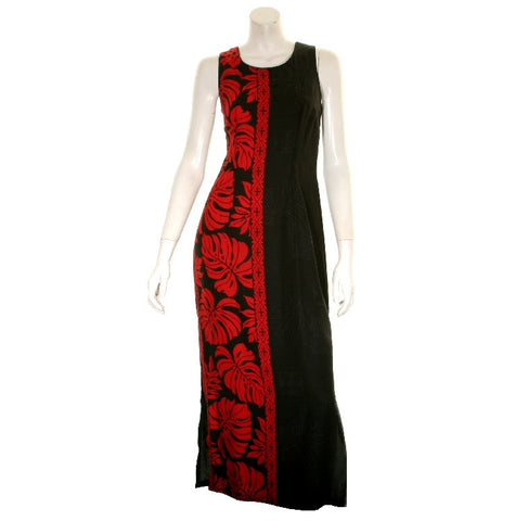 Prince Kuhio Lady's Dress ~ Black/Red