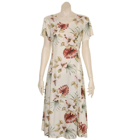 Hawaiian Princess Dress 54904 ~ Beige