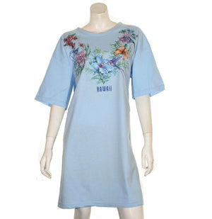 Flower and Bird  Beach Cover Up(BCU HW 7-6) ~ Light Blue