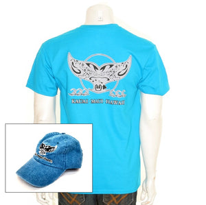 Men's Whale Tail Cap and Tee Combo ~ 118411