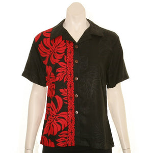 Prince Kuhio Women's  Blouse ~ Black/Red