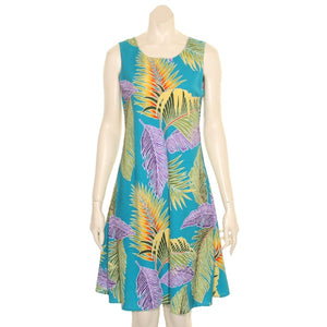 Island Fronds Sleeveless Dress