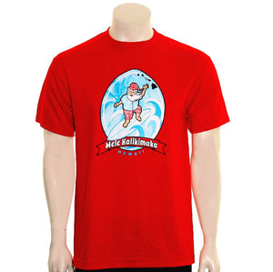 Surfing Santa Men's Tee(SA5-1)  ~ Red