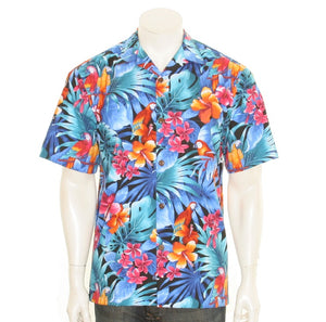 Tropical Parrot Men's Aloha Shirt