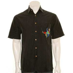 "Bamboo Cay ""Always Five O'Clock"" - Men's Aloha Shirt (WB5000) - Black"