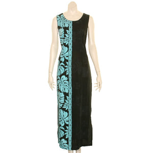 NEW Prince Kuhio Long Dress Black/Blue