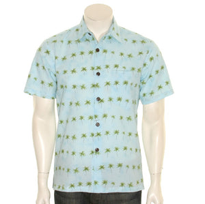 Palm Tree Slim Fit Aloha Shirt
