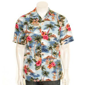 Men's Hula Girl Aloha Shirt