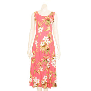 Plumeria Cluster Sylvia Long Dress