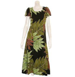 "Brown""Kimi""2 Tulip Sleeve Ladies Rayon Dress"