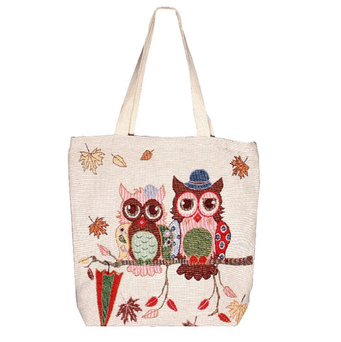 Owl 2 Cotton Canvas Tote Bag