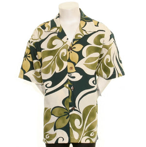 Hilo Hattie Hibiscus Big Boy's Aloha Shirt - Green