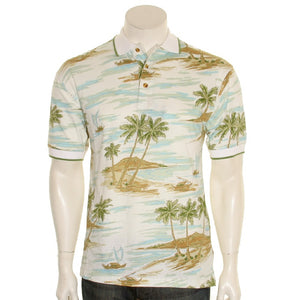 Bamboo Cay - Men's Polo Shirt (KRK-002) - Cream