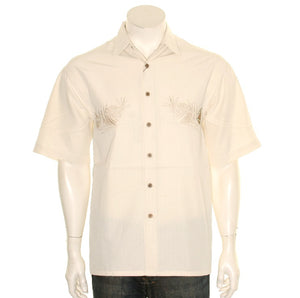 Bamboo Cay Lonely Pineapple Cream - Men's Aloha Shirt (WBS 800)