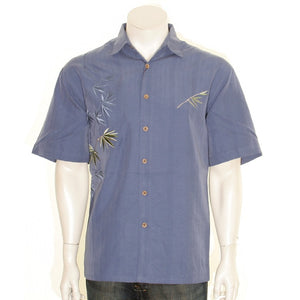 "Bamboo Cay ""Flying Bamboo Infra Blue"" - Men's Aloha Shirt (WB2006D)"