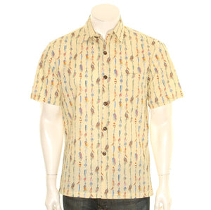 Fish Hook Slim Fit Aloha Shirt