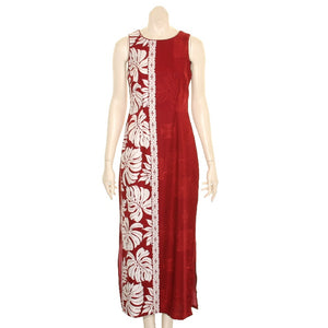 NEW Prince Kuhio Long Dress Burgundy