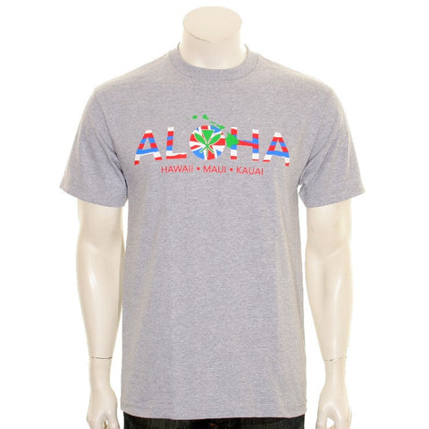 ALOHA Men's Tee Grey - SA 5-3
