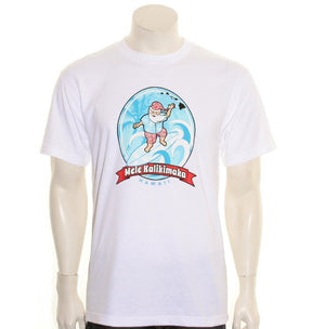 Surfing Santa Men's Tee (SA5-1) ~ White