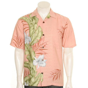 Hilo Hattie Orchid Panel Men's Aloha Shirt